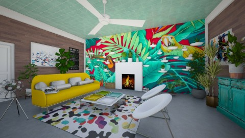 Tropical Living Room - Living room - by LaughingDonut