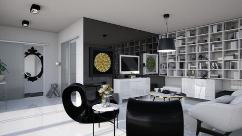 Black white and shiny  - Modern - Living room - by Tree Nut