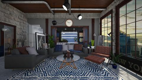 Industrial Living - Living room - by NiceGoodNoodle