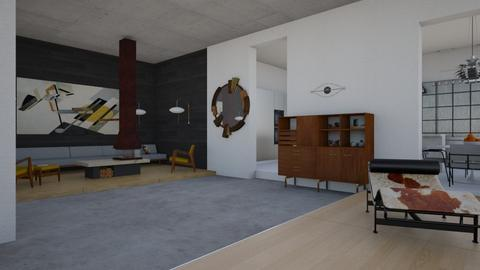 Cliff house living area - Minimal - Living room - by kitty