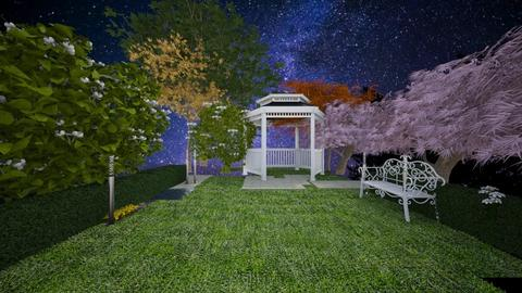 Outdoor Nighttime Garden - by whatbuttwo