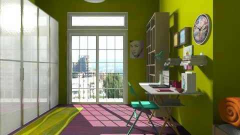 green - Glamour - Bedroom - by Gabriella Aloia