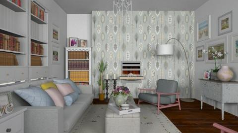 Grey Mist Pastels_Prints  - Modern - Living room - by janip
