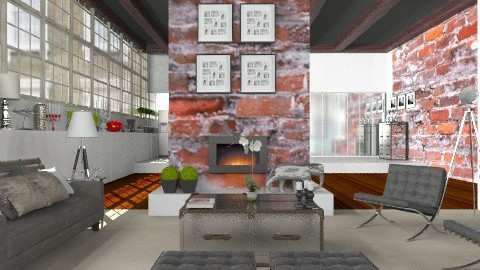Living in the Warehouse Apartment - Vintage - Living room - by Carliam
