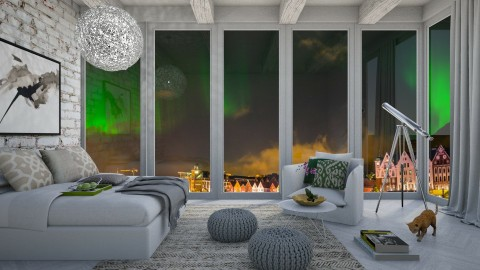 Northern Lights - Modern - Bedroom - by bgref
