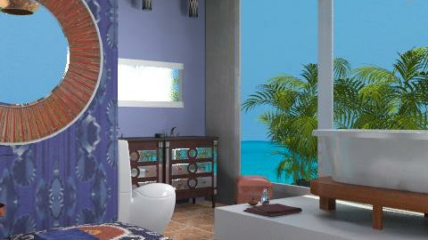 Curassao Blue - Eclectic - Bathroom - by carolinafer