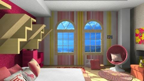 Pink Bedroom - Modern - Bedroom - by rokhi