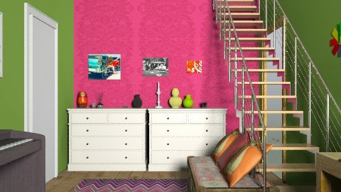 pink&green - Bedroom - by lovegirl1782