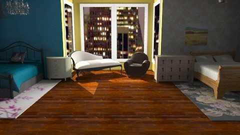 Mine n beccas NYC appartment - Living room - by TheAlgonaGirl