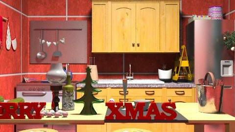 christmas kitchen - Classic - Kitchen - by ATELOIV87