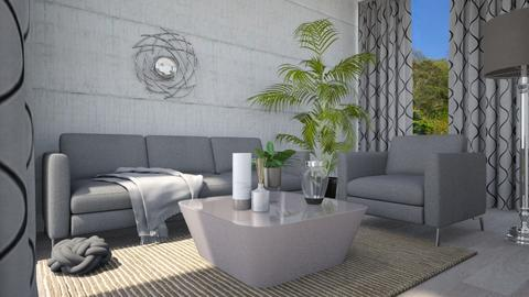 grey - Living room - by Dayanna Vazquez Sanchez