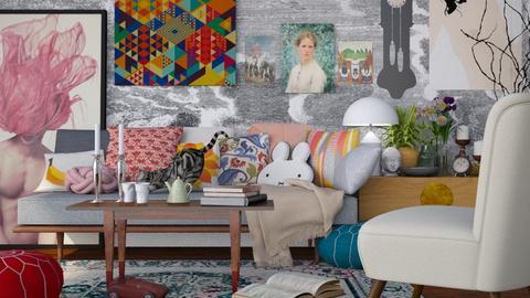 student apartment  - Retro - Living room - by HenkRetro1960