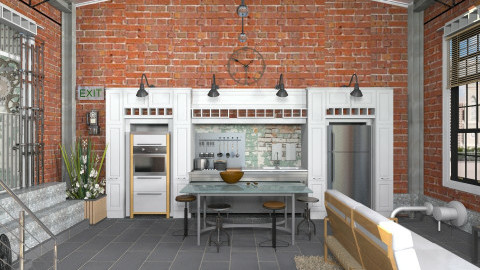 Noise Pollution_CWIN - Retro - Kitchen - by TV Renders