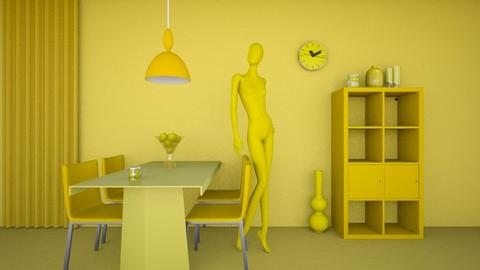 Yellow - Living room - by Louise Hedlund