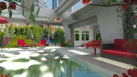 Summer on the roof - Modern - Garden - by Bibiche