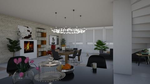 black wood white - Modern - by natkaloveee
