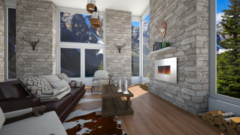 My Canadian Holiday House - Living room - by serenellc27