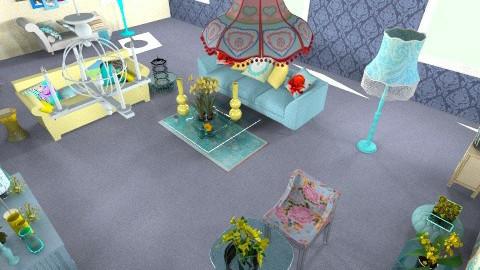 sunshine blues - Living room - by nitajolly