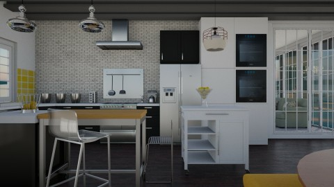 Its our paradise - Retro - Kitchen - by Lucii