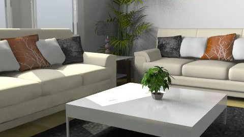 White - Minimal - Living room - by Cathd0411