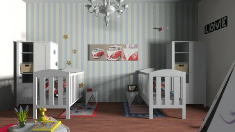 Fancy twins room - Rustic - Kids room - by Misslittledeer