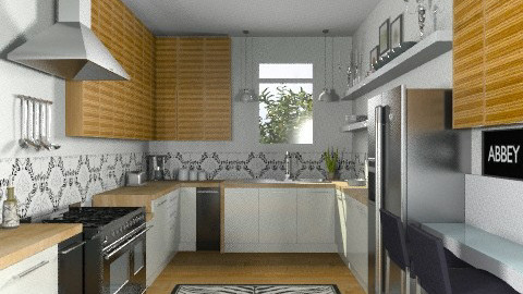 Random Spaces - Galley Kitchen - Modern - Kitchen - by LizyD