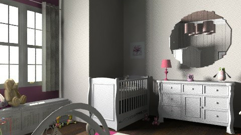twin baby girls - Kids room - by jauxier2002