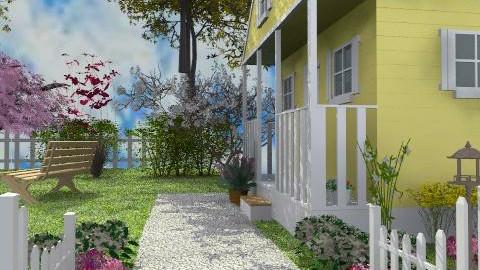The Little Yellow House - Classic - Garden - by Bibiche