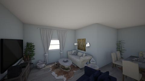 cool tones - Living room - by EllaNaznin