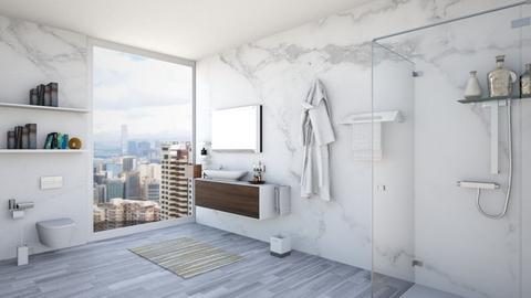 marble bathroom - by Nia Khachidze