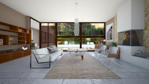 R Neutra - Retro - Living room - by janip
