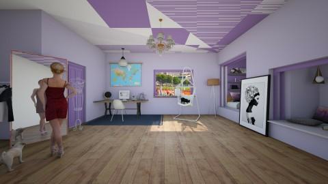 Purple 3 - Modern - Bedroom - by Bao Tran