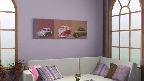 Purple - Minimal - Living room - by deleted_1566988695_Saharasaraharas