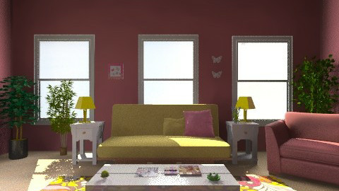 Just Mauvy - Living room - by Jojo63