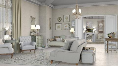 shabby chic - Feminine - Living room - by marinmarin