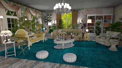 garden inside - Living room - by de_kan