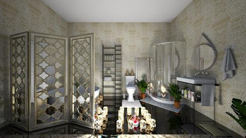 Boho Romantic Bathroom - by Cool Coder Girl
