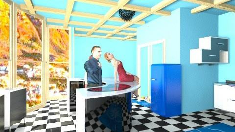 in the blue kitchen  - Minimal - Kitchen - by Nhezart Designs