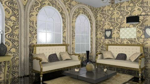 black n gold - Glamour - Living room - by trees designs
