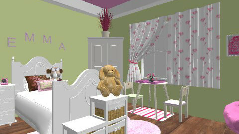 girl room - Kids room - by jauxier2002
