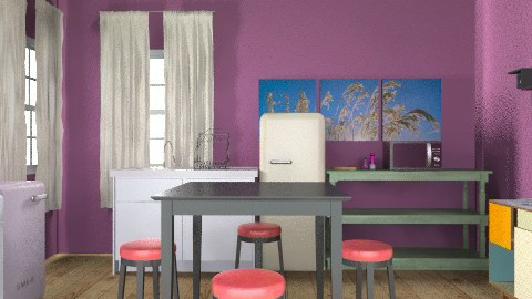Purple Kitchen - Eclectic - Kitchen - by lmmccolley