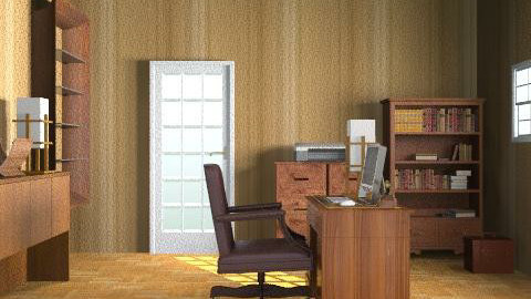 Man  - Retro - Office - by Mary Lee
