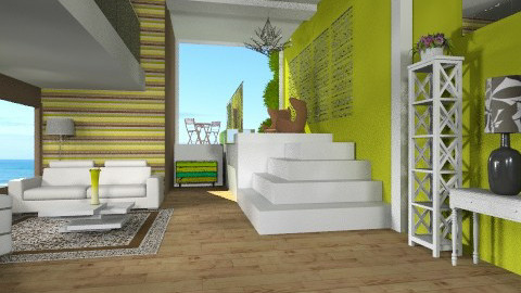 Chocolate Lime Lounge - Minimal - Living room - by Nicky West