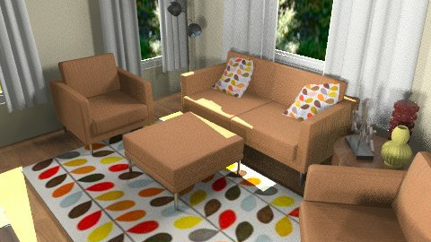 retro dining and living 3 - Retro - by teen bedroom