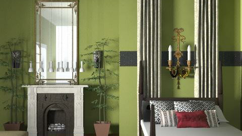 Green militar - Bedroom - by mine8ag