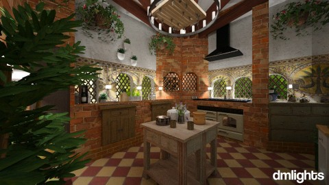 Tuscan kitchen - Country - Kitchen - by DMLights-user-1468788