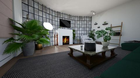 stone and leaf - Modern - Living room - by llaurenpie