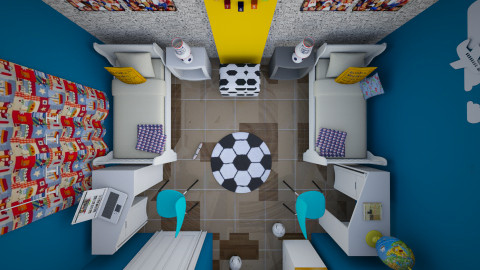 room for kids from top - Modern - Kids room - by Nourhaan Adel