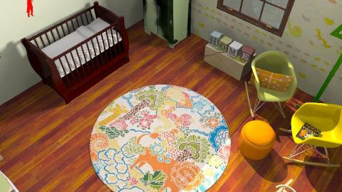 baby Hendren - Retro - Kids room - by rawchill