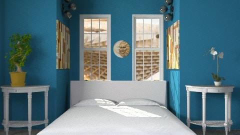 deep ocean blue - Modern - Bedroom - by lavilavinia